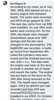 1955 Chrysler 300 KIEKHAEFER NASCAR TIM FLOCK Race Winning Engine DOCUMENTED 331