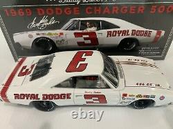 1969 #3 Buddy Baker Dodge Charger 500 University Racing Autographed COA