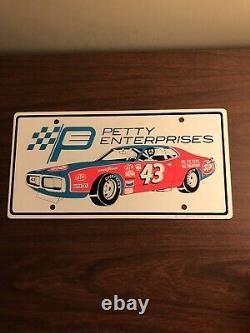 1972 Vintage Richard Petty NASCAR Racing Booster Metal License Plate