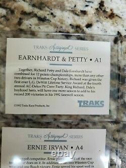 1992 Traks Autographed Dale Earnhardt Sr (9) Card Complete Set With Cover Card