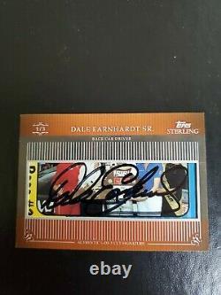 2009 Dale Earnhardt Sr Signed Topps Sterling Premium Cut Autograph (1/3). Rare