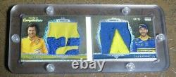 2010 Five Star Dale Earnhardt Sr Jr RACE-USED Wrangler JUMBO Patch LOGO #7/25