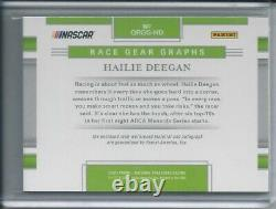 2020 Panini National Treasures Hailie Deegan Race Gear Auto Holo Silver /15
