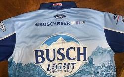 2020 XLT KEVIN HARVICK BUSCH LIGHT Pit Crew Shirt Race Used Nascar BRISTOL WIN