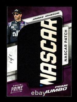 2021 Chronicles Prime Jimmie Johnson Jumbo Race Used Nascar Logo Patch 1/1