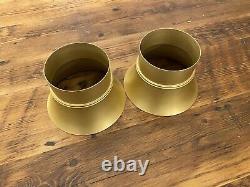 2X Vintage Gold Anodized Aluminum Velocity Stacks 5-1/8 Dual Quad Tunnel Ram