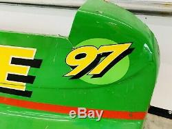 #97 Chad Little Nascar Race Used Sheet Metal John Deere Bumper Ford-Roush