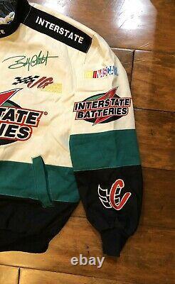 Bobby Labonte #18 Interstate Batteries Racing Jacket Mens Size Large NASCAR JH