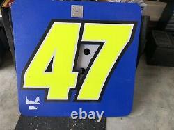 Bobby Labonte / Marcos Ambrose Nascar Race Used Sheet Metal Pit Board Pit Sign