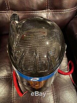 Brad Keselowski Autographed Race Used Worn Helmet Penske Miller Lite NASCAR