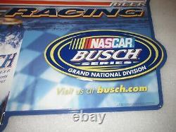 Busch Beer RACING SIGN NASCAR Busch Series tin 2001 VERY RARE