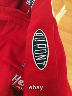 CHASE AUTHENTICS Vintage Rainbow NASCAR Jacket DuPont Jeff Gordon SIZE LARGE