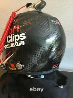 Carl Edwards, 2013-2015 Race Used, Cup Series, Stilo Helmet. Full Radio And Hans