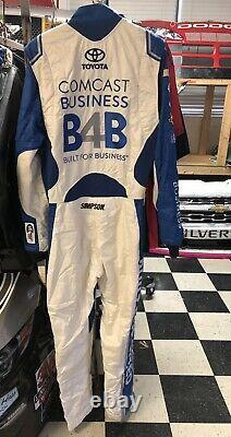 Carl Edwards Comcast Simpson JGR Nascar Race Used Worn Drivers Firesuit