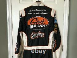 Carl Edwards NASCAR Race Used Drivers Firesuit West Coast Customs Geek Squad