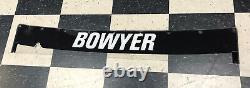 Clint Bowyer #14 Nascar Race Used Rear Window Banner Non-Sheetmetal