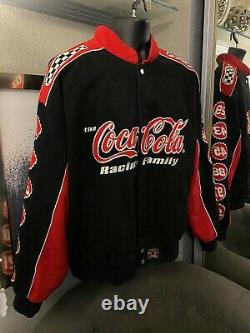 Coca-Cola Classic NASCAR Jacket Red Black White Mens Size 3XL Racing Family