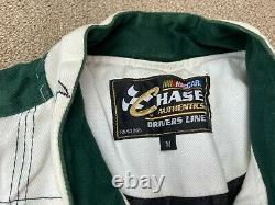 Dale Earnhardt Jr Amp Energy Jacket Racing Chase M NASCAR White Green Coat