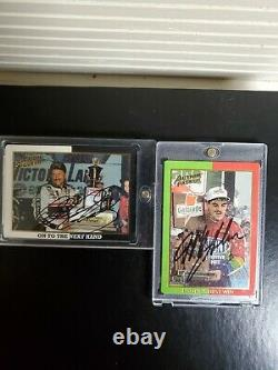 Dale Earnhardt Sr Autographed 1994 Action Packed Jeff Gordon Signed Jsa Cards