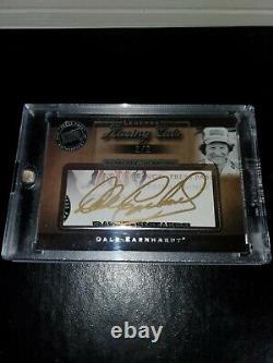 Dale Earnhardt Sr Autographed 2007 Press Pass Signed Legends Racing Cut Card 2/2
