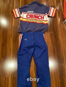 Dale Jarrett CRUNCH Race Worn Used Crew suit NASCAR autographed
