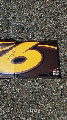 David Ragan signed autograph NASCAR race used sheet metal Roush racing UPS