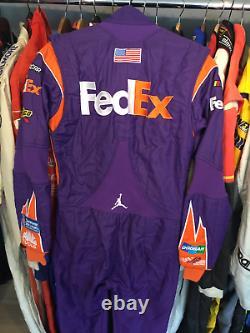 Denny Hamlin, 2017 Race Used, Joe Gibbs, Air Jordan, Fed Ex Simpson Drivers Suit