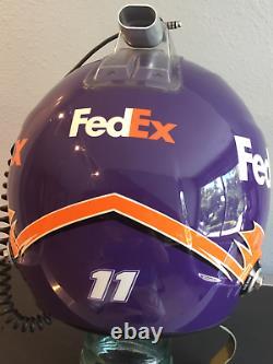 Denny Hamlin, 2017 Race Used/worn, Joe Gibbs, Fed Ex, Carbon Fiber Stilo Helmet