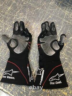 Denny Hamlin Michael jordan Fedex Freight 11 JGR Nascar Race Used Drivers Gloves