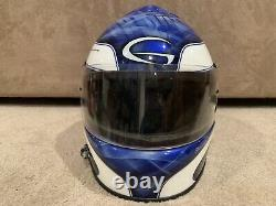 Derrike Cope Nascar, Race Used And Worn Helmet With Full Radio Signed