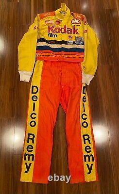 Ernie Irvan Kodak Race Worn Used Firesuit Drivers suit NASCAR 1991 Autographed