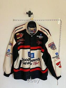 JEFF HAMILTON DALE EARNHARDT SR NASCAR RACE JACKET COAT SZ XL black goodwrench