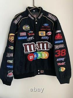 JH Design M&M's Mens Size Large racing jacket NASCAR Elliott Sadler #38
