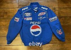 Jeff Gordon #24 Pepsi Racing Race Jacket Mens Size Large NASCAR Bush Series Rare