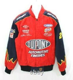 Jeff Gordon Jacket NASCAR Racing DuPont Winston Cup Chase JH Design XL Leather