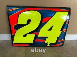 Jeff Gordon NASCAR race used sheetmetal door panel #24