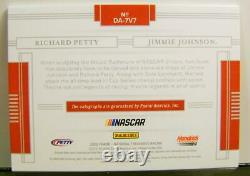 Jimmie Johnson Richard Petty Dual Auto #12 /15 Nascar Panini National Treasures