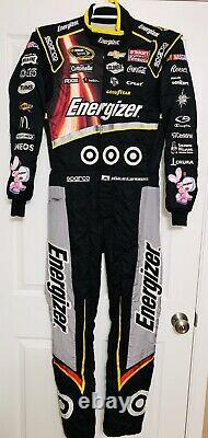 Kyle Larson Race Used Driver Suit Target Energizer Nascar Chevy Fire Impact