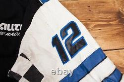Mens Vintage Ryan Newman Black Reversible Alltel Racing NASCAR Jacket L R21575