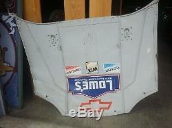 NASCAR Race Used Authentic Sheetmetal Hood
