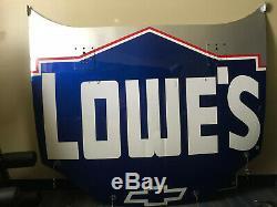 NASCAR Race Used Jimmie Johnson Hendrick Monte Carlo Lowe's Hood Autographed