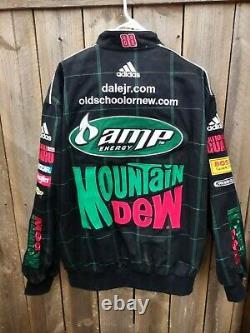 Nascar Dale Earnhardt Jr. Racing Jacket Mountain Dew GM Adidas JR Nation Size XL