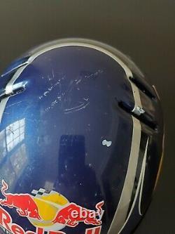 Nascar Red Bull Racing Team Pit Crew Helmet Brian Vickers Kasey Khane Race Used