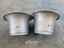 QTY 2 Vintage Aluminum Velocity Stacks 5-1/8 Dual Quad Tunnel Ram Gasser Hot Rod
