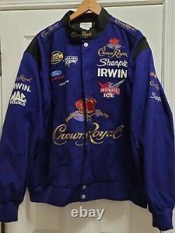 Rare! Team Caliber Crown Royal Liquor Men's Nascar Racing Jacket Size 2XL