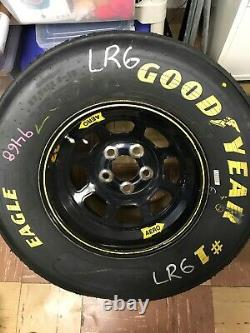 Shawna Robinson Kids Race Against Drugs Race Used Hood sheetmetal NASCAR & tire