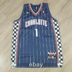 Stephen Jackson Bobcats Adidas Swingman Nascar Racing Night Jersey size 2XL blue