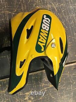 Tony Stewart 2008 Talladega Subway Jason beam Nascar Race Used Pit Crew Helmet