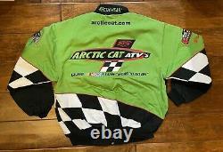 Tony Stewart Arctic Cat Racing Race Jacket Mens Size Large NASCAR Arcticwear