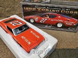 University Of Racing Legends Donnie Allison Signed 1969 Torino #27 124 Car